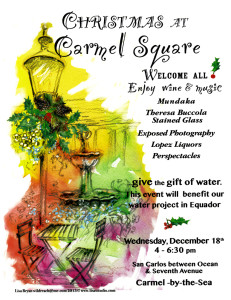 Welcome all to Christmas at Carmel on the Square! Enjoy wine & music, Wed., Dec. 18 from 4-6:30 p.m.